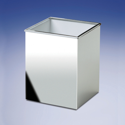 Waste Basket, Windisch 89136-CR, Square Bathroom Waste Bin