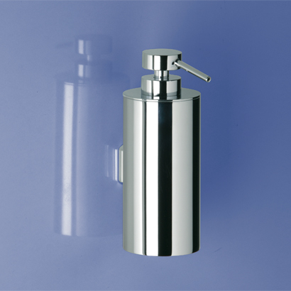 Soap Dispenser, Windisch 90126-CR, Modern Wall Mounted Rounded Brass Soap Dispenser