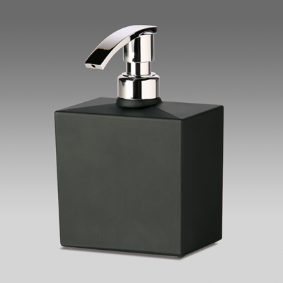 Windisch Squared Black Frosted Crystal Glass Soap Dispenser 90301N at Sears.com