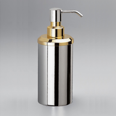 Soap Dispenser, Windisch 90407-CR, Contemporary Round Countertop Brass Soap Dispenser