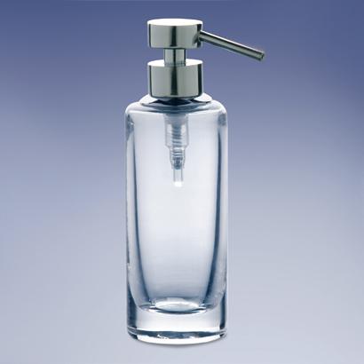 Soap Dispenser, Windisch 904141, Rounded Tall Plain Crystal Glass Soap  Dispenser