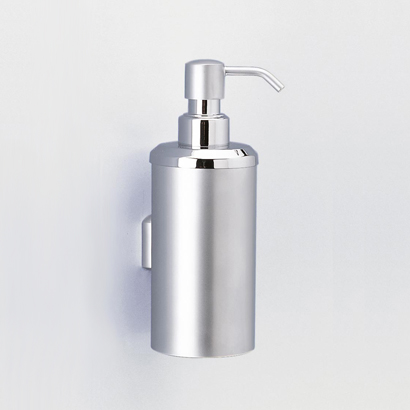 Soap Dispenser, Windisch 90427-CR, Wall Mounted Rounded Brass Soap Dispenser