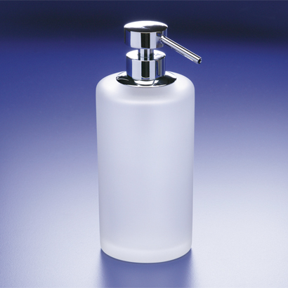 Soap Dispenser, Windisch 90432M-CR, Frosted Crystal Glass Soap Dispenser