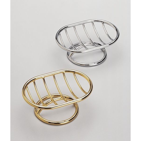 Soap Dish, Windisch 92102, Free Standing Brass Wire Soap Dish With Chrome or Gold Finish