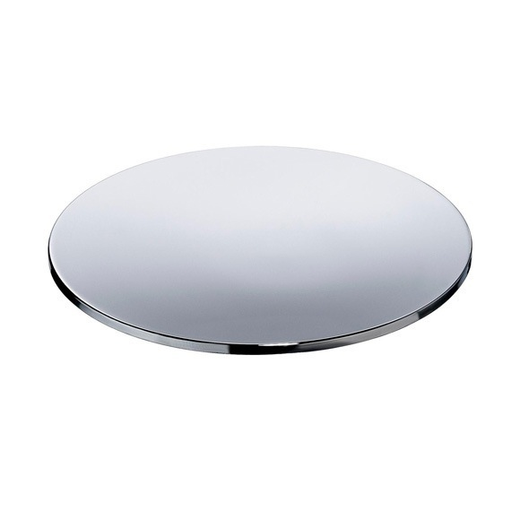 Free Standing Br Round Soap Dish With Chrome Or Gold Finish
