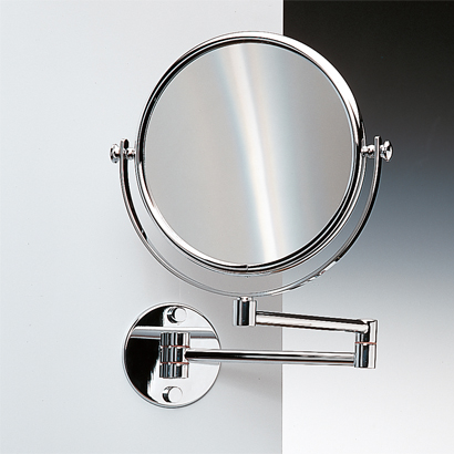 Makeup Mirror, Windisch 99141-CR-3x, Wall Mounted Double Face Brass 3x, 5x, 5xop, or 7xop Magnifying Mirror