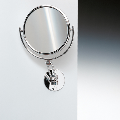 Makeup Mirror, Windisch 99146-CR-3x, Wall Mounted Double Face Brass 3x or 5x Magnifying Mirror
