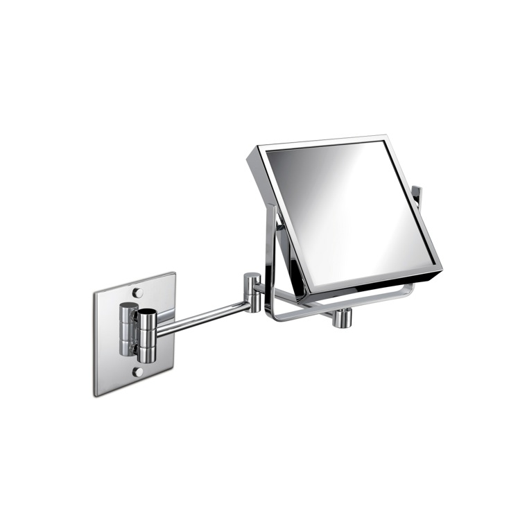 Makeup Mirror, Windisch 99745-CR-3x, Wall Mounted Brass Double Face Mirror With 3x, 5x Magnification