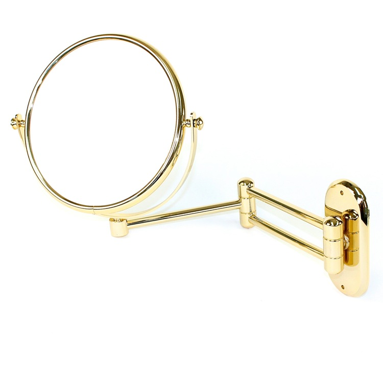 Makeup Mirror, Windisch 99143D-CRO-3x, Wall Mounted Extendable Double Face Brass 3x Magnifying Mirror