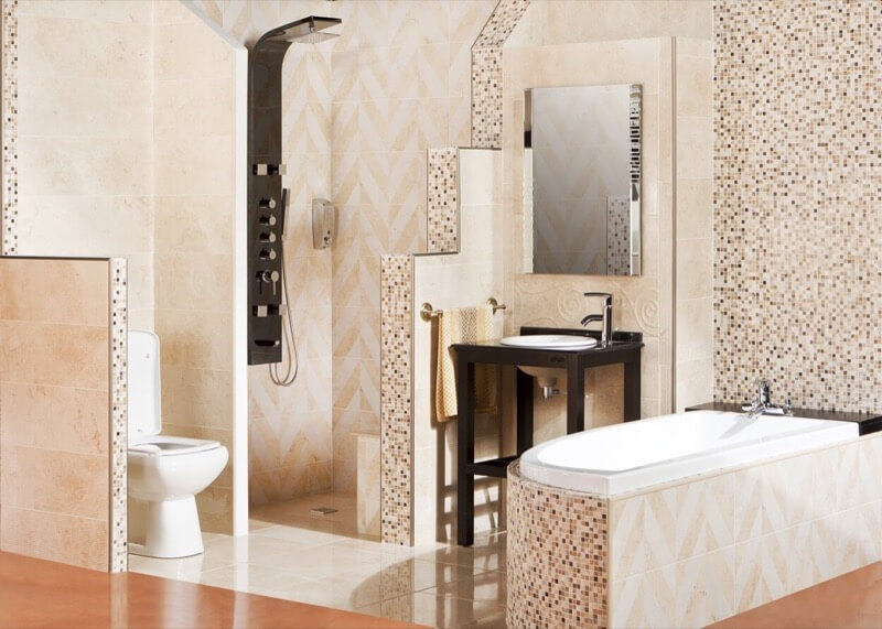 How To Tile in a Random Pattern - TheBathOutlet com