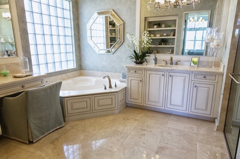 bathroom vanity with seating area. Eliminate a Sink  If having makeup area is more important to you than an extra sink change one of your two vanities into the dreams How To Include Makeup Counter in Your Bathroom TheBathOutlet com