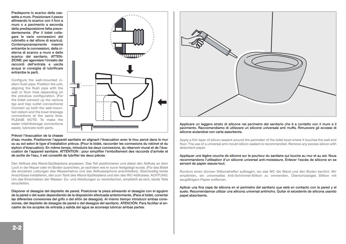 Scarabeo 8606 By Nameek\'s Moai Round Floor Standing Ceramic Toilet ...