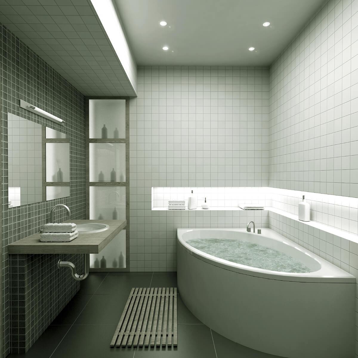 дизайн потолков из гипсокартона фото для ванной комнаты