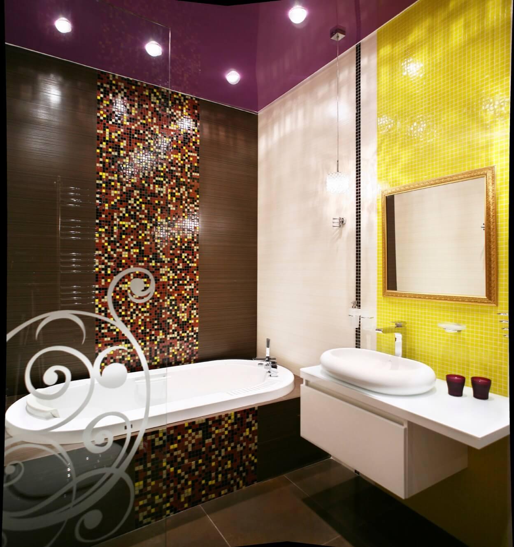 creative bathroom design with multi colored ceramic mosaic tile - Multi Bathroom Design