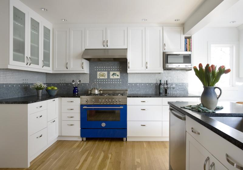 Blue Stove Kitchen