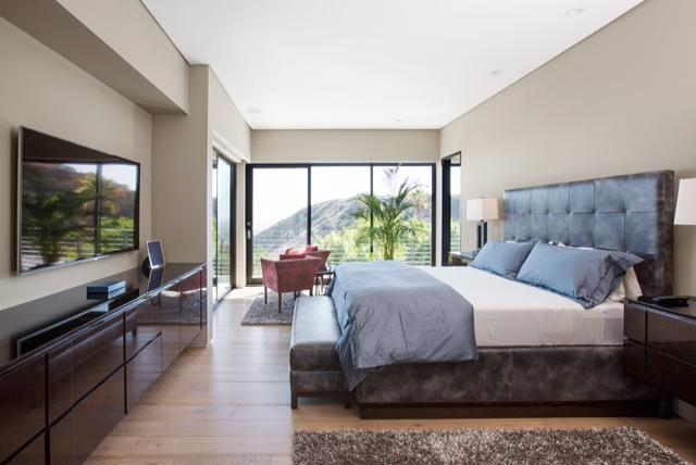 Modern Master Suite, Expansive Glass Doors, Ocean to Hills View