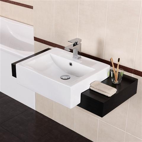 What is a semi recessed or semi encastre sink? - TheBathOutlet.com