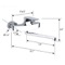 Chrome Wall Mount Tub Faucet with Long Swivel Spout